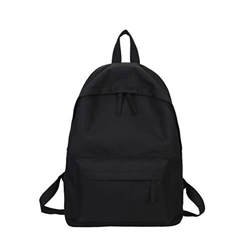 PANPANY Zaino Uomo Donna Borsa da Scuola per Backpack Casual Impermeabile Tinta Unita di Grande capacità in Tela Alta qualita' e Trekking Viaggio