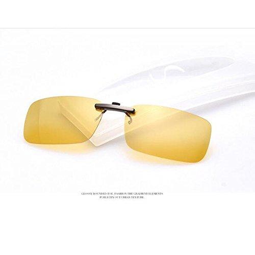 Zimo Polarisierte Unisex Sonnenbrille Clip Brillen Pol Aufsatz für Brillenträger (Nachtsicht)