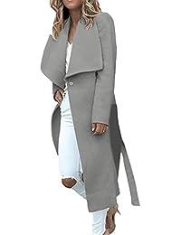 Abrigos Mujer Largos Otoño Invierno Esencial Anchas Fashion Abrigo Lana Elegantes Manga Larga De Solapa Espesor