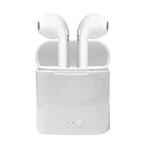 Bluetooth Kopfhörer Shinefuture 4.1 Kabellose In Ear Ohrstöpsel mit Tragbarer Ladestation und Mikrofon für Apple und Android Geräte (Bluetooth Kopfhörer Für Android)
