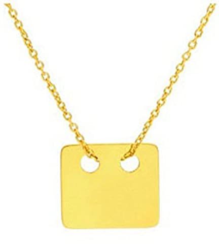 HOT Celebrity Layered Style Square Necklace Vermeil 24K Gold over Sterling Silver. Simple & Stunning! 1.5cm Pendant / 45cm Chain. Stamped 925. 10 Year Guarantee.