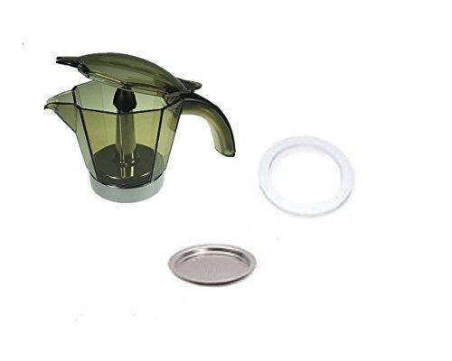 Caraffa 4 tazze originale de longhi completa di filtro e mguarnizione