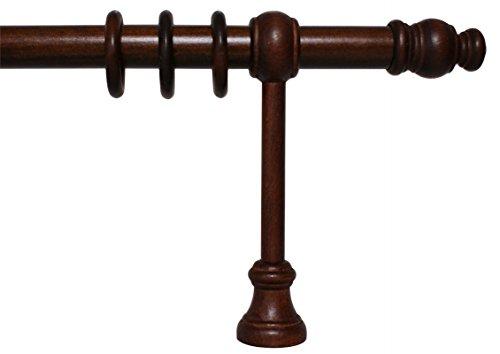 Gardinenstange aus Holz mit 28 mm Durchmesser in Nußbaum, viele Größen, 200 cm