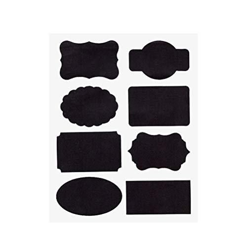 5 Blatt Tafel Etiketten Pantry Aufbewahrungsaufkleber wiederverwendbare wasserdichte Tafel Vinyl Aufkleber für Gläser Spice Glasflaschen Container Kanister