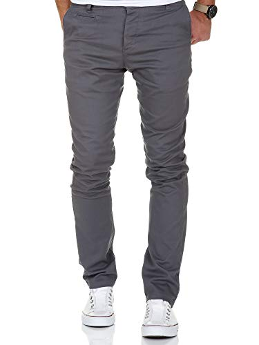 im Fit Stretch Chino Hose Jeans 7100 Dunkelgrau W33/L30 ()