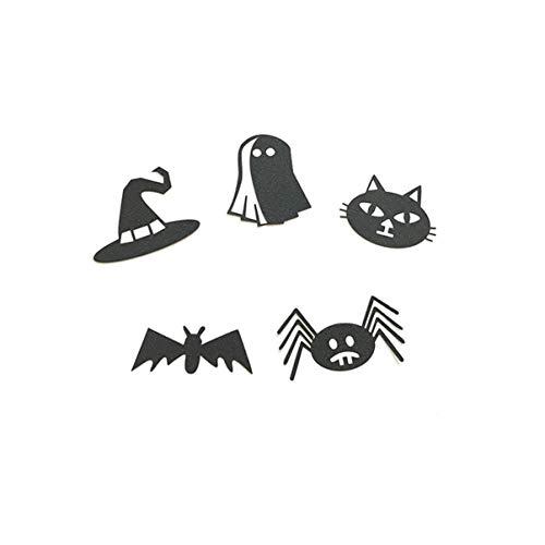 JullyeleDEgant 5X Halloween Fledermaus Spider Festival Dress Up Kuchen Flagge
