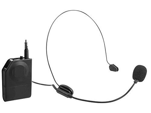 Trevi EM 408 R Set di Microfoni Wireless ad Archetto e a Clip con Ricevitore Senza Fili