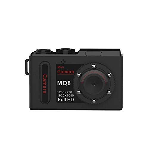Fcostume MQ8 Mini Kamera Full HD 1080p Kamera Infrarot Nachtsicht Mini DVR Digital Video Recorder Kleine Mini Camcorder Cam (Schwarz) Fps-digital-dvr