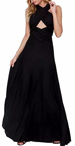 2f18325a8fe EMMA Damen Sexy Elgant V-Ausschnitt Rückenfrei Gefaltet Plisse Abendkleider  Ärmellos Schulterfrei Cocktailkleid Abschluss Bandage