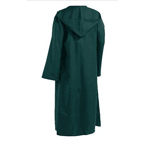 Bademantel Kapuzen Kostüm Kind - LZDseller01 Kapuzen-Bademantel für Herren und Kinder, Tunika, Cosplay-Kostüm, Umhang, grün, XXL