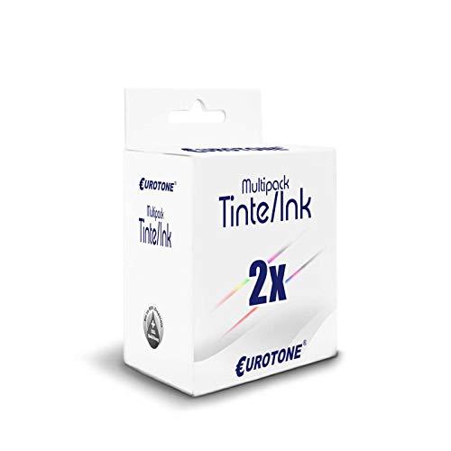 2X Eurotone Patronen für Lexmark Z605 X1290 Z612 X72 X74 Z603 Z516 Z23 Z33 Z640 X1155 Z35 X1170 Z25L X2225 X75M X2230 ersetzt No 16/17 26/27 CMYK -