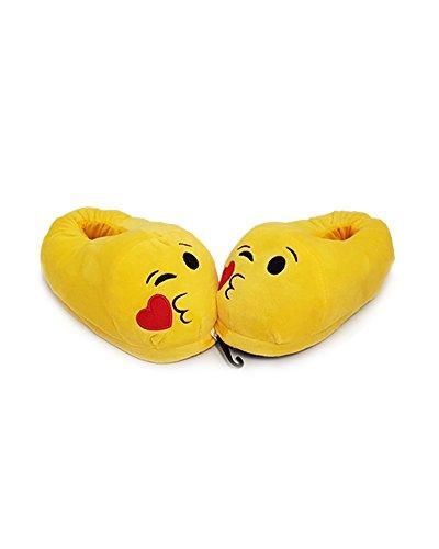 Emoticon Plush Pantofole 6 Faces Différentes De Num. 37 Al 42 - Kiss Kamiustore