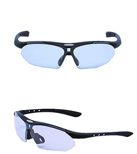 Yiph-Sunglass Sonnenbrillen Mode Sport Mann Frau Reiten Angeln Bergsteigen Gläser explosionsgeschützte HD Myopie Sun Sports Wind PC UV-Schutz (Color : Natural)