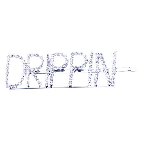 lustige Buchstaben, seitliche Fransen, Strass, Pailletten, zum Basteln, GLAM/DRIPPIN A ()