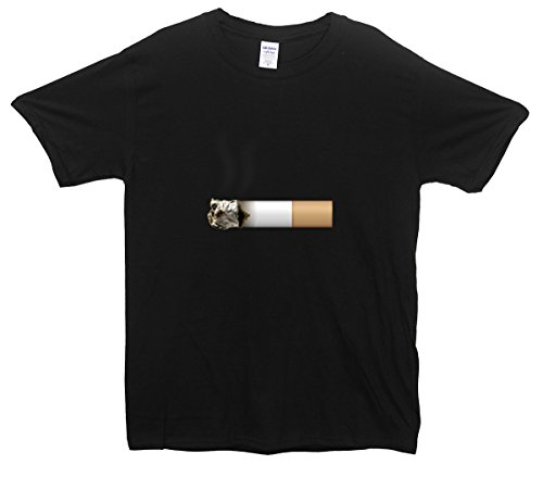 Cigarette Emoji T-Shirt Schwarz
