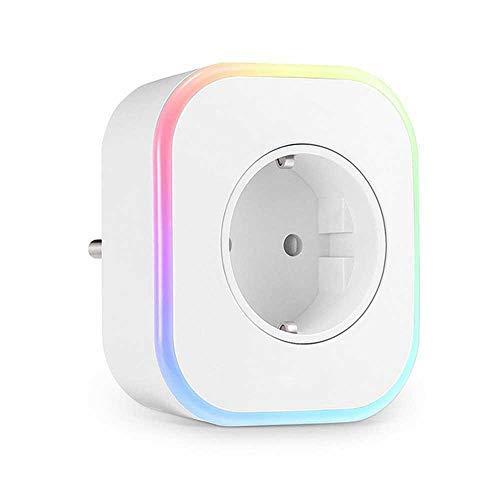 Presa Intelligente WiFi Smart Plug con Smart LED Lamp Mini Presa Wi-Fi con Porta USB Nightlight E 2 Porte USB Presa WiFi Compatibile con Amazon Alexa, Google Home E IFTTT