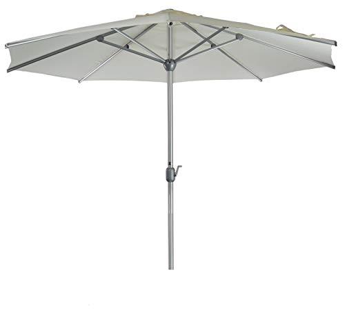 Sonnenschirm Parasol | Weiß | Ø 300 cm / 3m | Rund | SORARA | Apple | Mastdurchmesser Ø 48 mm |...