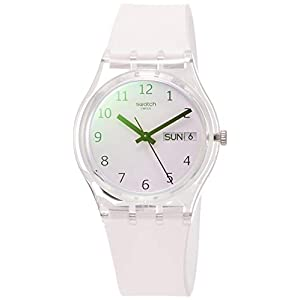 Swatch Unisex Adult Analogue Quartz Watch with Silicone Strap GE714