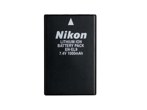 Nikon Battery EN-EL9 - Batería/Pila recargable (Ión de litio, Negro, D40/D40X D60/D5000 MH-23)