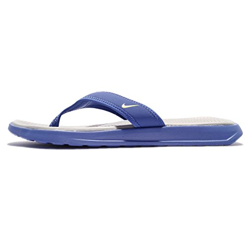 NIKE Ultra Celso Thong Sandals Men's Comet Blue/Electrolime/Matte Silver 882691-400 (13 D(M) US) Celso Thong