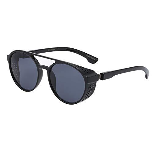 Yazidan Unisex Vintage Eye Sonnenbrillen Retro Eyewear Fashion Strahlenschutz Nerd Sonnenbrille Matte Rubber Retro Vintage Unisex Brille