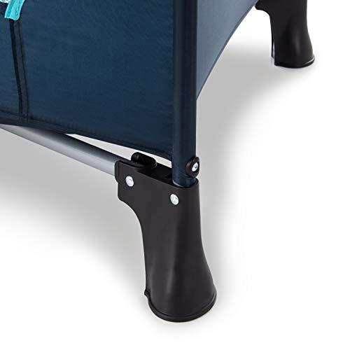 Hauck Kindereisebett Dream N Play Plus inklusive Matratze, seitlichem Reißverschluss, und Transporttasche, ab Geburt, tragbar, faltbar und klappbar, blau (navy aqua) 120 x 60 cm - 9