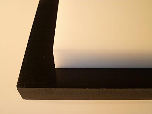 B&T Metall Kunststoffplatten PA6 Natur Platten 6,0 mm stark Polyamid im Zuschnitt Größe 10 x 50 cm (100 x 500 mm)