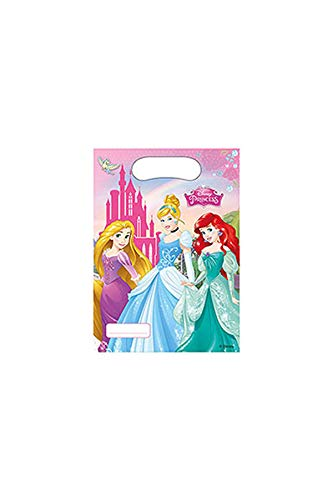 Disney 47111 princesa Party - Bolsas de fiesta 6 ct