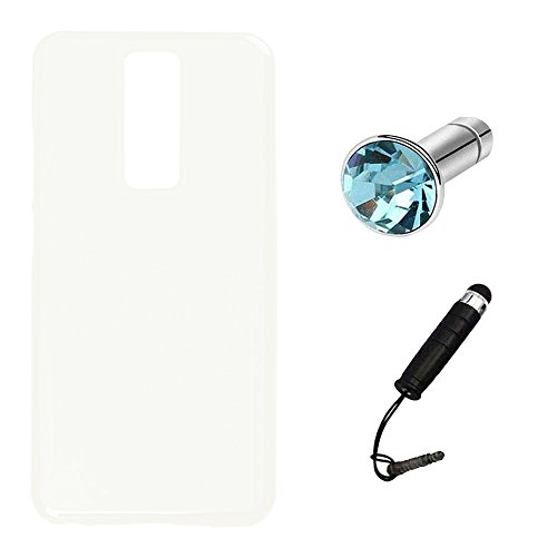 Lusee Silikon TPU Hülle für Leagoo S8 5.72 Zoll Schutzhülle Case Protektiv Silicone Weiß