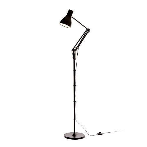 Anglepoise type 75 lampada da terra, e27, 20 watts, nero