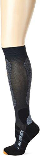 X-Socks Funktionssocken Ski Energizer, Anthracite/Grey Moulineè, 39/41, X020331 (Sock Compression Smart)