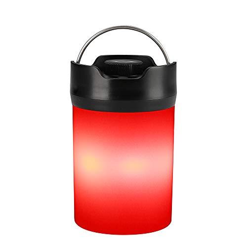 Zanflare Campinglampe LED aufladbar, Camping Laterne tragbar Tischlampe Wasserdicht Touch Nachtlicht warmes kaltes Licht SOS Notfall Licht mit Einem wiederaufladbaren 18650Akku für Nachtfischen,Jagen