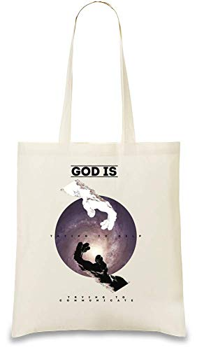 Galaxy Gott versucht zu helfen - Galaxy God Is Trying To Help Modern Art Painting Custom Printed Tote Bag| 100% Soft Cotton| Natural Color & Eco-Friendly| Unique, Re-Usable & Stylish Handbag For Every