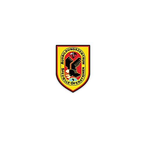 Aufkleber / Sticker -AusbZSpezlOp Ausbildungszentrum für Spezielle Operationen Deutschland Bundeswehr Heer Pfullendorf Spezialkräfte Wappen Abzeichen Emblem 5x7cm #A2994