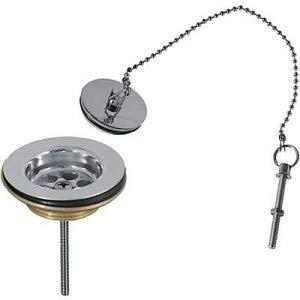 Válvula desagüe lavabo sin rebosadero Tapón de latón con cadena
