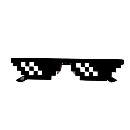 Fliyeong Premium Qualität Lustiges Spielzeug für Kinder, Thug Life Brille 8 Bit Pixel Deal Mit IT Sonnenbrillen Unisex Sonnenbrillen Spielzeug B