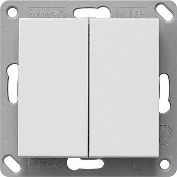 Gira 242203 Funk Wandsender Batterielos, 2fach System 55 Reinweiß