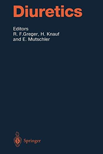Diuretics (Handbook of Experimental Pharmacology (117), Band 117)