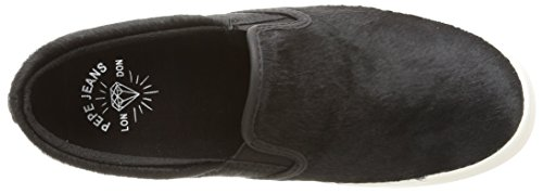 Pepe Jeans London RIPLEY PLAIN PONY Damen Slipper Schwarz (999BLACK)