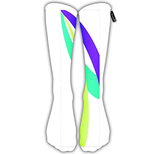 Randell Unisex Classic Knee High Over Calf Flyer Sublimation Elements Swatch Jersey 3D Print Athletic Soccer Tube Cool Fun Party Cosplay Socks (Element-baumwoll-jersey)