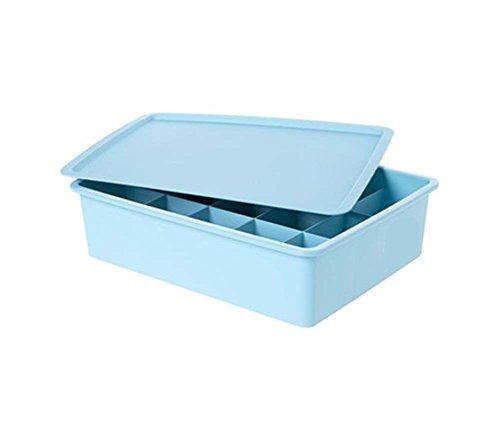 15 Raster mit Deckel Innenbekleidung / Kosmetikaufbewahrungsbox-Blau
