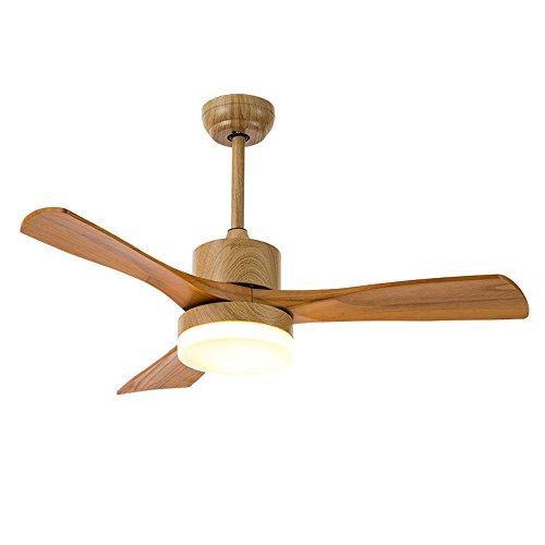 YIBEN® 48 Zoll Deckenventilator Licht Hause Eisen Holz Blatt Ventilator Beleuchtung LED-Licht Fernbedienung Holz Colar (Ganzen Haus, Deckenventilatoren)