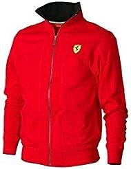 Chaqueta hombre cremallera Ferrari rojo talla M