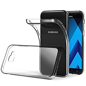 SvK COMBO Samsung A5 2017 Back Cover Soft Transparent Silicone For Samsung Galaxy A5 2017 (Free Tempered Glass Screen Protector)  available at amazon for Rs.219