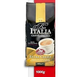 Saquella Caffe Saquella Espresso Bar Italia Extra Crema Bohnen, 1er Pack (1 x 1 kg)