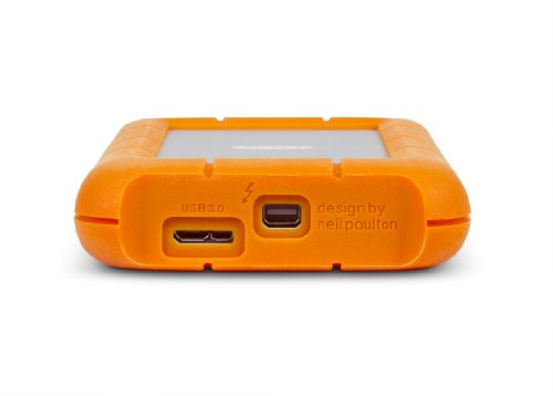 LaCie Rugged TRIPLE - 500 GB  externe tragbare Festplatte (7200rpm) , USB 3.0, FireWire 800 - LAC301983