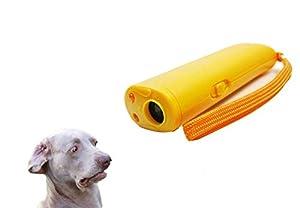 ASOCEA NEUF 3en 1ultrasonic Dog Trainer Répulsif anti aboiements écorce de stop appareil d'entraînement avec LED