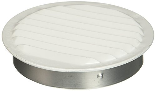 Maurice Franklin Louver RLW-100 4, 4-Inch Mini Round Aluminum Insect Proof Mini Louvers With Screen, White by Maurice Franklin Louver
