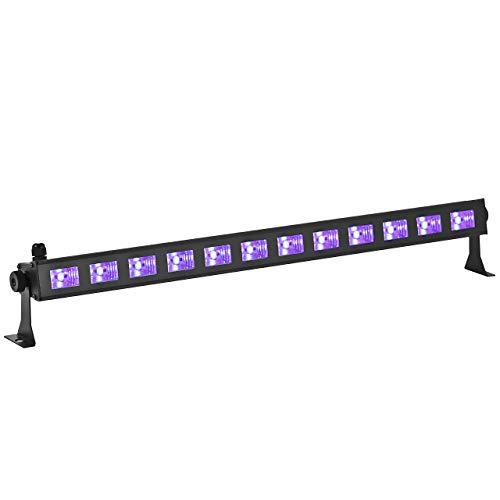 Eyourlife 12x3W Luz DJ UV Disco LED Luz Barra Ultravioleta