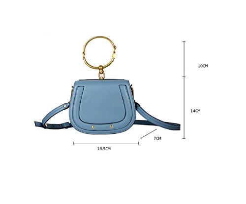 LAIDAYE Sommer-Doppel-Ring Retro Frau Tragbare Schulter Messenger Bag 3